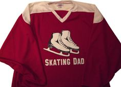 At www.hksportswear.com we can provide clip art design templates like this one a customer made for their skating dad.