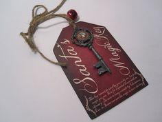Santas Magic Key for Christmas on a Wooden Tag  by BornOnBonn, $12.00