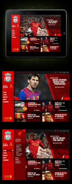 New Football Club Website Concept by Martin Ollivere, via Behance