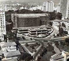Masp em construção Ano: 1965 Autor/Fonte: Arquivo Histórico de São Paulo /// São Paulo em Preto & Branco: Março 2014