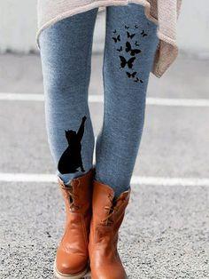 Cotton Leggings, Leggings Are Not Pants, Printed Leggings, Loungewear Set, Plus Size Casual, Mode Online, Online Shopping Clothes, Casual Pants, Lounge Wear