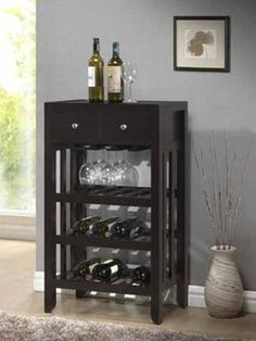 Wine Racks - Brand New 224 x 1424 x 386H Dark Espresso Wood Finish Wine Rack >>> Want to know more, click on the image.