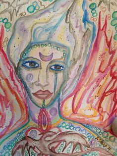 TRANSMUTATION Fire and Ice Angel Goddess by DreamALittleDesigns Dragon Heart, Watercolor Art, Goddess Art, Goddess, Spiritual Paintings, Fire And Ice, Painting, Otherworldly, Art