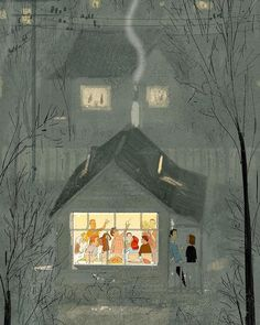 San-Francisco-based illustrator Pascal Campion captures the magic in everyday moments. Each colorful digital illustration is like a snapshot of a precious memory with loved ones, pets, or simply a tranquil moment of solitude. Pascal Campion, Christmas Illustration, Illustration Art, Art Fantaisiste, Winter Art, Winter Snow, Illustrations And Posters, People Illustrations, Fashion Illustrations