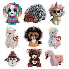 1c99d9341e8 15CM Hot Sale Ty Beanie Boos Big Eyes Lola the Dog Lion Bear Unicorn Bat Alpaca  Plush Toy Doll Stuffed Animal Cute Plush Kid Toy.