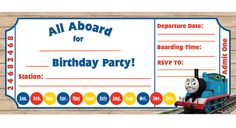 Free Printable Thomas The Tank Engine Birthday Invitation Little