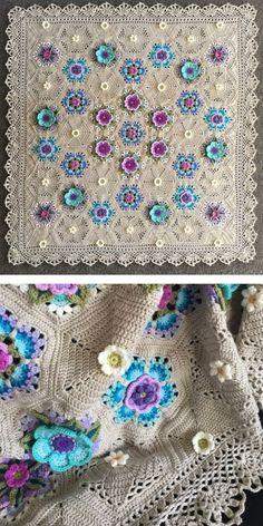 Crochet Borders For Blankets, Crochet Blanket Border, Crochet Blankets, Baby Girl Crochet Blanket, Crochet Squares Afghan, Knitted Throws, Crochet Baby, Crochet Motif Patterns, Crochet Stitches