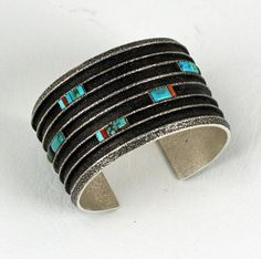 Boyd Tsosie - Sterling Silver Cuff Bracelet - Native American Jewelry - Leota's Indian Art is home to renowned Native American jewelry artists.