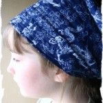 Easy To Sew Gardening Headscarf. For Comfort and Excellent Sweat Absorption.