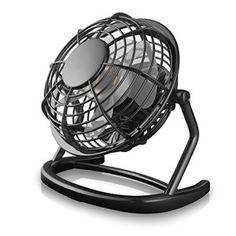 CSL – Mini Ventilateur USB | nouveau modèle Mini ventilateur de bureau / Fan | pour ordinateur / ordinateur portable | noir