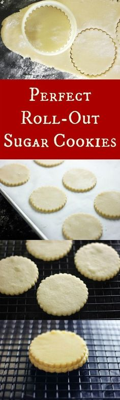 A roll-out sugar cookie that cuts out perfectly and holds it's shape when baked! Oh and they also stay soft and taste fantastic! | http://RoseBakes.com