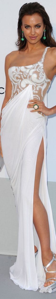 Irina Shayk in Atelier Versace 2011 amfAR Gala p/b LOLO ~ via Marguerite Burrill