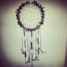 Custom-hand made white dreamcatcher by Driftwood Gypsy