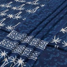 Dabu Print, Dupion Silk, Batik Prints, Silk Dupatta, Salwar Suits, Bed Sheets, Alexander Mcqueen Scarf, 3 Piece, Indigo