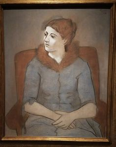 Pablo Picasso - Madame Olga Picasso  1923  at the East Building on the National Gallery of Art in Washington DC, USA