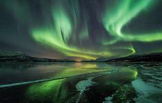 aurora borealis | Aurora borealis near Tromso, Norway on the evening of Dec. 15, 2012 ...
