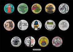 1984 Miners Strike - Badges #1 by Beamish Museum, via Flickr