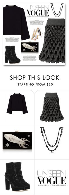 """""""Fantastic Skirt"""" by juliehalloran ❤ liked on Polyvore featuring Jaeger, Charlotte Olympia, Bling Jewelry, Jimmy Choo, Chanel and Dolce&Gabbana"""
