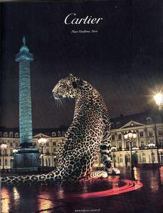 Affiche - La Panthère Cartier ......... en Poils et en Os sur la Place Vendôme