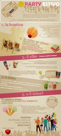 """""""Guida galattica per Buongustai"""" Cirio Il Party Estivo #infographic"""