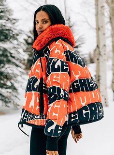 Snow Outfit, Orange Jacket, Ski Season, Ski Fashion, Plein Air, Moncler, Types Of Fashion Styles, Street Style Women, Casual Outfits