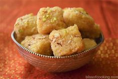 Nariyal Ki Barfi is a very simple sweet to make. This recipe does not call for khoya or milkmaid. I have used full cream milk with fresh grated coconut. Coconut Barfi Recipe, Coconut Burfi, Indian Sweets, Indian Snacks, Indian Food Recipes, Sweet Desserts, Dessert Recipes, Jelly Bread, Pakistani Desserts