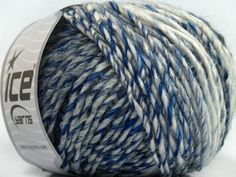 Fiber Content 50% Acrylic 50% Wool White Brand ICE Grey Blue fnt2-40500