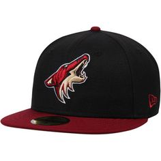 the best attitude e321d b3ee3 Men s Arizona Coyotes New Era Black Garnet 2-Tone 59FIFTY Fitted Hat