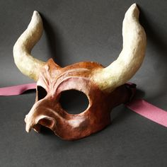 Paper Mache Masks by Marion Westerman, via Behance Paper Clay, Diy Paper, Paper Art, Paper Mache Mask, Paper Mache Crafts, Mascara Papel Mache, Paper Mache Animals, Monster Makeup, Halloween Make Up