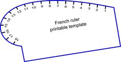 French curve printable template - On The Cutting Floor