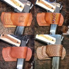 1911 Leather Holster, Gun Holster, Leather Pouch, Leather Tooling, Leather Art, Custom Leather, Leather Knife Sheath Pattern, Western Holsters, Ostrich Legs