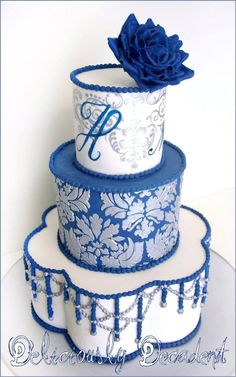 Beautiful blue cake