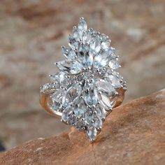 Espirito Santo Aquamarine Ring in Platinum Overlay Sterling Silver (Nickel Free)