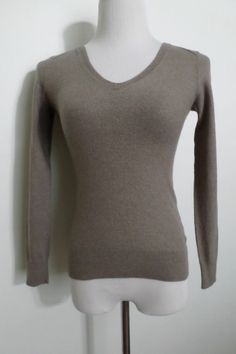Banana Republic Dark Brown Super Fine Merino Wool Sweater Woman's Size S