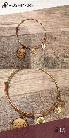 Elephant Alex and Ani Alex and Ani gold elephant bracelet. I have a bunch of Alex and Ani I am trying to sell. 1 for 15. 2 for 20. 3 for 25. Let me know which ones you are interested in purchasing together!! Elephants symbolize happiness, good luck, longevity and high intelligence! Alex & Ani Jewelry Bracelets
