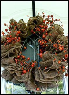 21 Rosemary Lane: Easy Fall Burlap Wreath