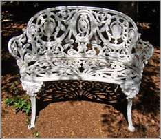 Antiques for the Home and Garden - Victorian Cast Iron Garden Bench Garden Fence Art, Garden Shed Kits, Wooden Garden Planters, Glass Garden, Diy Garden Decor, Garden Ideas, Cast Iron Garden Bench, Cast Iron Bench, Iron Patio Furniture