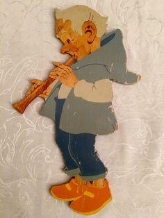 ✅ Vintage Nursery Holzbild Hellerkunst alter Zwerg DWARF WOOD in Antiquitäten & Kunst, Antikspielzeug, Holzspielzeug   eBay