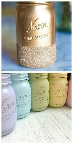 Spring-ready mason jars | http://www.hercampus.com/school/bryant/perfect-spring-decorations-your-dorm-room
