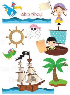 ULTIMATE PACK pirata 51 piezas clip digital por LittlePumpkinsPix
