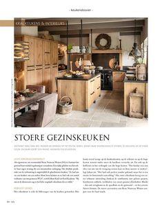 wonen landelijke stijl juni Küchen Design, House Design, Shed Homes, Home Decor Kitchen, Firewood, Sweet Home, Cabinets, Kitchens, Furniture