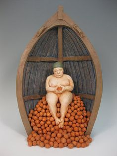 Malia Landis, Relic of Indulgence Stoneware, wire, 2011