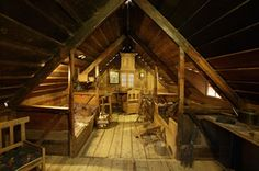Icelandic viking - The Saga museum  - inside view of traditional Icelandic house