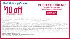 Get $10 OFF at Bath & Body Works.
