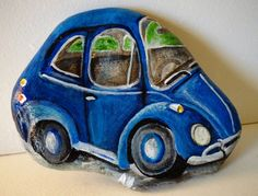 Very first painting, a rock shaped like a VW beetle