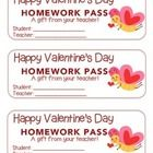 """Valentine"" Butterfly Flying - Homework Pass –Holiday FUN! (color & black line version)  http://www.teacherspayteachers.com/Product/Valentine-Butterfly-Flying-Homework-Pass-Holiday-FUN-color-black-line-1107869"