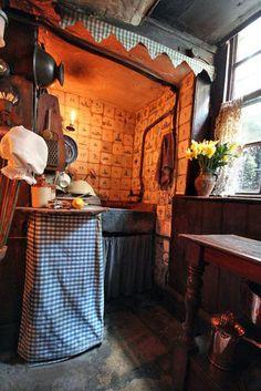 """Dennis Severs 'House, En Folgate Street . Londres. Creado por el anterior propietario como una """"recreación histórica"""" de lo que hubiera sido la vida de una familia de hugonotes, tejedores de seda. Abierta al público."""