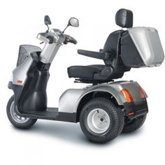 Afiscooter S (Breeze S) 3-Wheel Scooter w/ Wide Seat & Golf Wheels