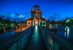 The beautiful water palace in Candidasa, Bali.
