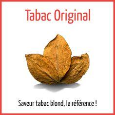 Tabac original - Arômes naturels - Fiole de 10ml - PG/80 VG/20